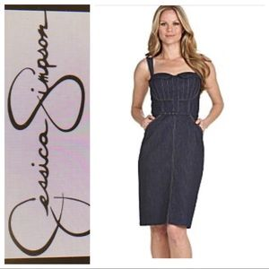 Jessica Simpson Sleeveless Denim Dress 14
